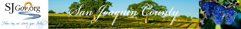 Banner: Welcome to San Joaquin County, California, USA